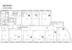AB DOAS - 4.poschodie - FLEXIFLOOR 8 kancelárií
