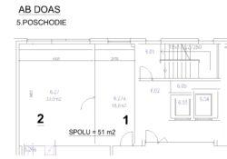 AB DOAS - 5.poschodie - 51 m2