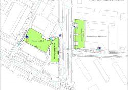 Situačný výkres pre adminstratívne budovy DOAS a parkovanie